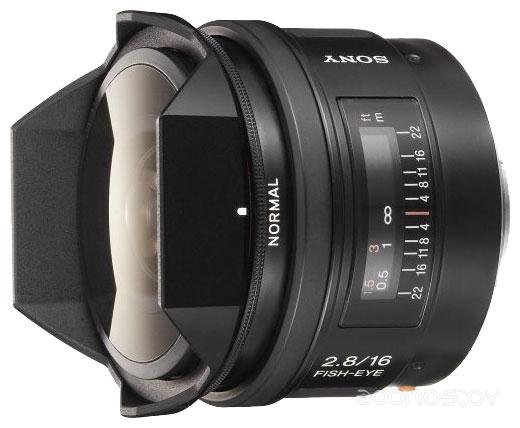 Объектив Sony 16mm f/2.8 Fisheye (SAL-16F28)