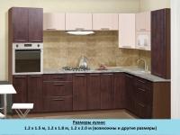 Кухня Интерлиния Metrio Д2.1 ПВХ угловая (дуб антик)
