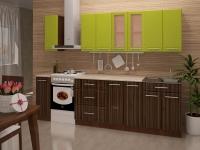 Кухня Интерлиния Metrio Д2.2 ПВХ глянец