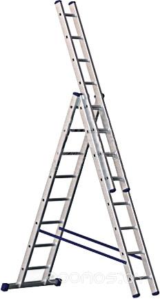 Лестница-стремянка Алюмет трехсекционная универсальная 5309 3x9