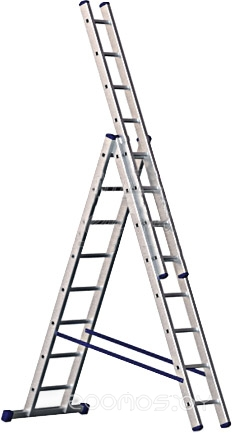 Лестница-стремянка Алюмет трехсекционная универсальная 5310 3x10