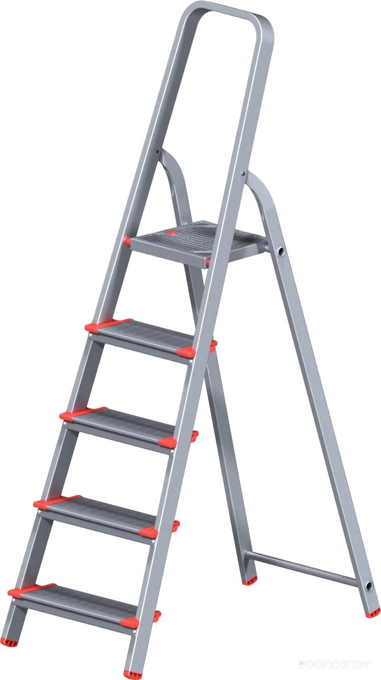 Лестница-стремянка Новая Высота NV 511 алюминиевая индустриальная 5 ступеней (5110105)