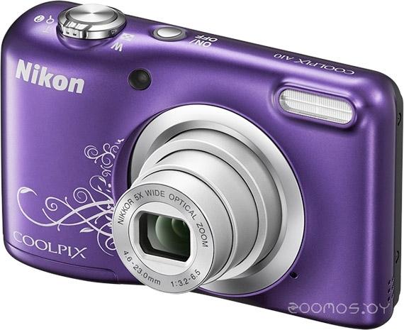 Цифровая фотокамера NIKON CoolPix A10 (Purple graphics)