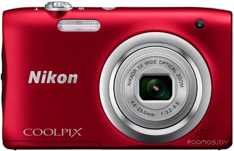 Цифровая фотокамера NIKON CoolPix A100 (Red)