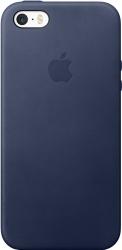 Apple Leather Case для iPhone SE Midnight Blue [MMHG2ZM/A]