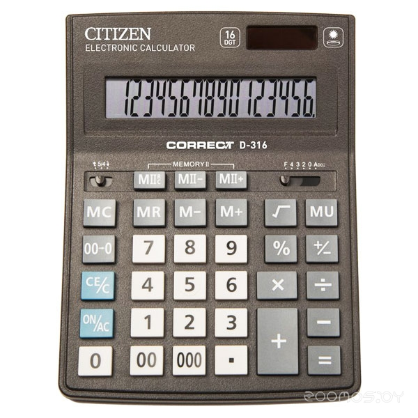 Калькулятор CITIZEN D-316