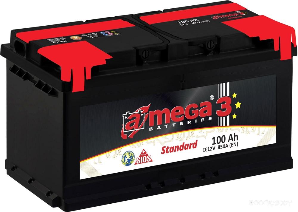 Автомобильный аккумулятор A-mega Standart 100 R (100 А·ч)