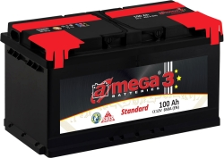 A-mega Standart 100 R (100 А·ч)