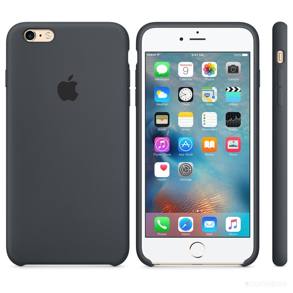 Чехол Apple Silicone Case для iPhone 6s Plus (Charcoal Gray)