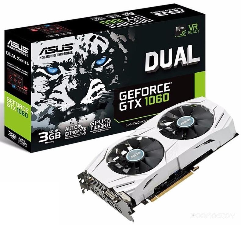 Видеокарта Asus GeForce GTX 1060 3GB GDDR5 [DUAL-GTX1060-3G]
