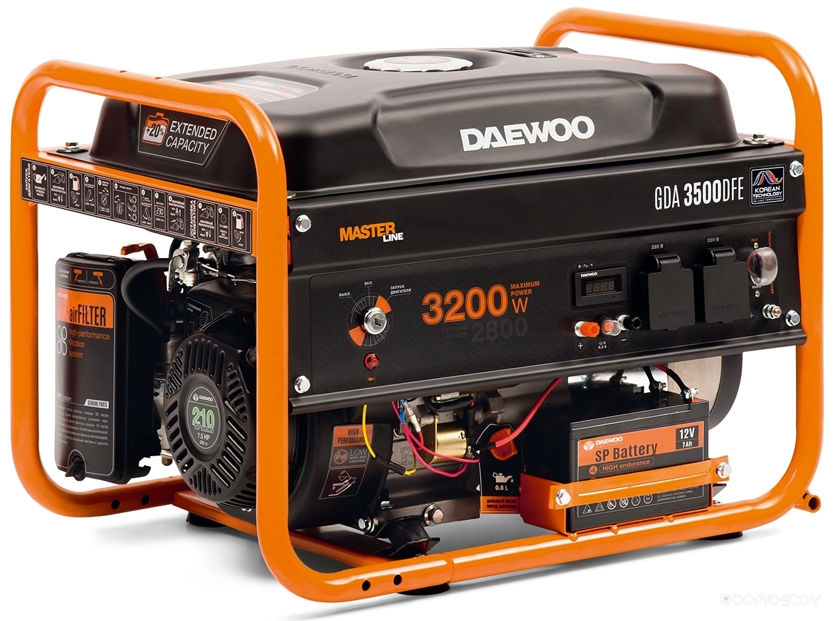 Генератор Daewoo Power GDA 3500DFE