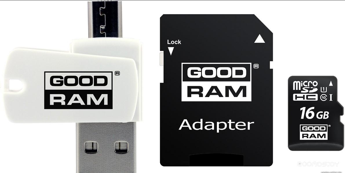 Карта памяти GoodRAM ALL in ONE microSDHC (Class 10) 16GB