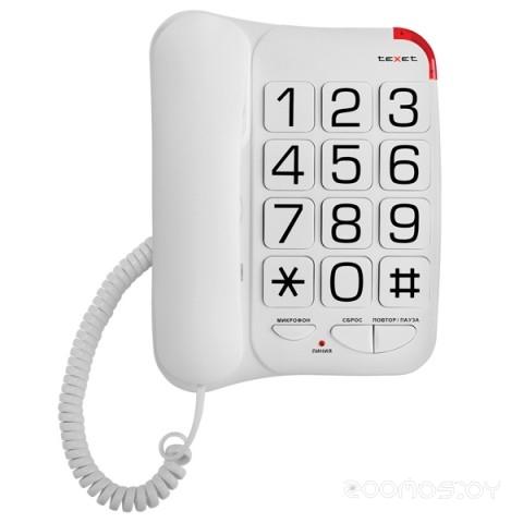 Проводной телефон TeXet TX-201 (White)
