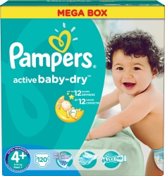 Pampers Active Baby-Dry 4+ MaxiPlus (120 шт)