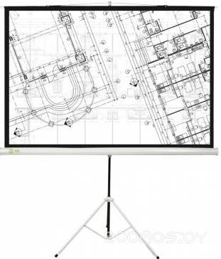 Проекционный экран Cactus Triscreen CS-PST-127X127 1:1 (White)
